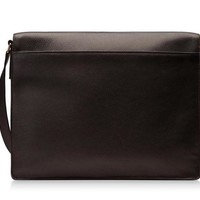 Buckley Leather Flap-Zip Messenger