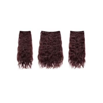 Black & Burgundy Clip In Curly Hair Extension 3pcs