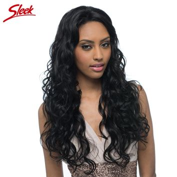 Sleek Lace Front Human Hair Wigs For Black Women Free Part Brazilian Virgin Wavy Hair Long Wig Free Shipping 26 Inch Lisa