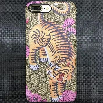 GUCCI Fashion Animal Print iPhone Phone Cover Case For iphone 6 6s 6plus 6s-plus 7 7plus 8 8plus