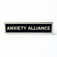 Anxiety Alliance Enamel Pin in Black and Silver