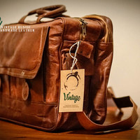 Vintage Handmade Office and Laptop Bag