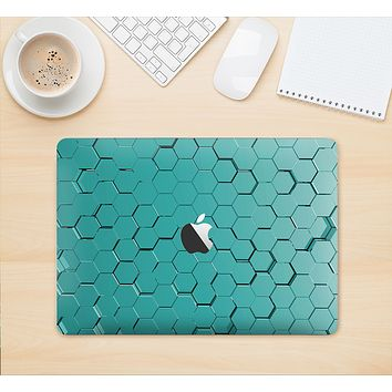 "The Teal Hexagon Pattern Skin Kit for the 12"" Apple MacBook"