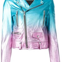 Saint Laurent Gradient Biker Jacket - G & B - Farfetch.com