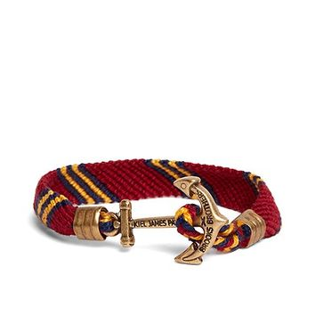 Kiel James Patrick Burgundy Hitch Knot Braided Bracelet - Brooks Brothers