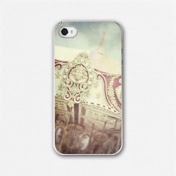 iPhone 4 Case iPhone 4 Cover Carousel Merry Go by LisaRussoFineArt