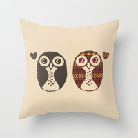 Opposites Attract Throw Pillow by Terry Fan