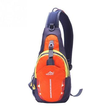ONETOW Outdoor Canvas Chest Bags Crossbody Shoulder Waterproof Sports Running Excersing Backpack Bag Diagonal Package