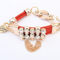 New Chain Charm  Bracelet Bangle Crystal Bracelets For Women Tassel Pulseiras Femininas  Fashion Jewelry