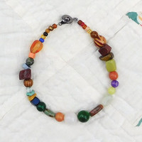 "Rasta Anklet Beach Jewelry Hippie Style 8 1/2"" Indie Fashion Hippy Bohemian Assorted Colors Earthy Bright Color Southwest"