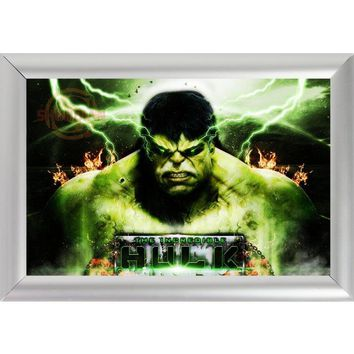 Silver Color Aluminum Alloy Picture Frame Home Decor Custom Canvas Frame The Incredible Hulk Canvas Poster Frame F170112#51