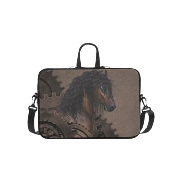 Personalized Laptop Shoulder Bag Steampunk Horse Handbags 14 Inch