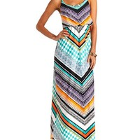 Tribal Chevron Racerback Maxi Dress