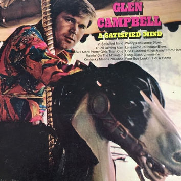 Glen Campbell - A Satisfied Mind - LP Vinyl Record RARE VINTAGE COLLECTIBLE