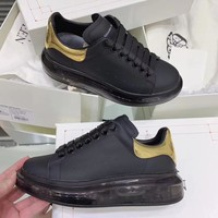 Alexander Mcqueen 2020 Hot Sale Woman lace up low top boots Leisure Sport Shoes Sneakers top quality black