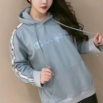 Champion  High Quality Trending Long Sleeve Print Pullover Hoodie Sweater G-A-HRWM