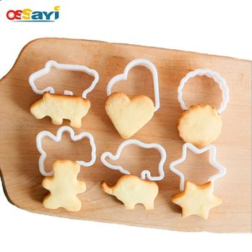 6pcs/set Animal Shaped Cookie Cutter Mold DIY 3D Biscuit Sugarcraft Dessert Baking Pastry Mould Fondant Cake Decorating Tools