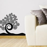 Wall Vinyl Decal Sticker Tree Abstract Style Art Design Room Nice Picture Decor Hall Wall Chu1430
