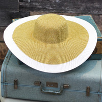 Let's Go to Waikiki Beach Hat in White
