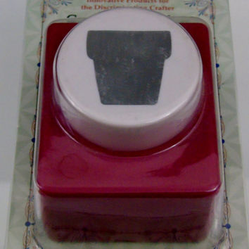 Flower Pot Super Jumbo Paper Punch by Emagination Scrapbook Card Making Paper Crafts Stationery Memory Albums New Sealed