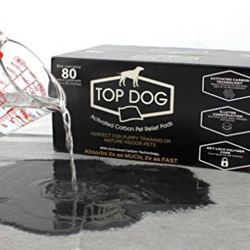Top Dog Deluxe Puppy Pads and Dog Training Pad with Extra Quick-Dry Black Carbon Technology - Perfect for Puppy Housebreaking and for Your Mature Pet