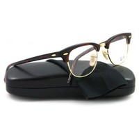Ray Ban RX5154 Clubmaster Eyeglasses-2372 Red Havana-49mm