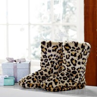 Fur Booties, Cheetah