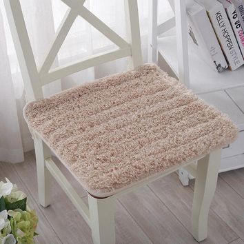 Fluffy and Soft Plush Fabric Dining Office Chair Seat Cushion,Decorative Pillows for Home,Children Decor Pillow,coussin chaise