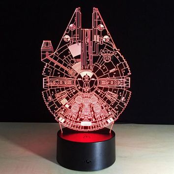 Star Wars Millennium Falcon 3D LED Lamp