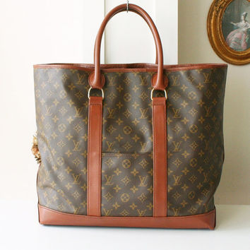 Louis Vuitton Bag Sac Weekend GM Tote Authentic 80s Vintage Purse