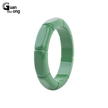GuanLong Fashion Resin Carved Bamboo Pattern Bangle 2017 Collection Femme Bangles Bracelets Puseiras Jewellery
