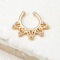 Clip-On Filigree Nose Ring