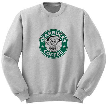 starbucks coffee sweater Gray Sweatshirt Crewneck Men or Women for Unisex Size with variant colour