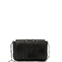 Paco Rabanne Small Python Shoulder Bag, Black