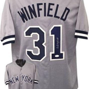 ONETOW Dave Winfield Signed Autographed New York Yankees Baseball Jersey (JSA COA)