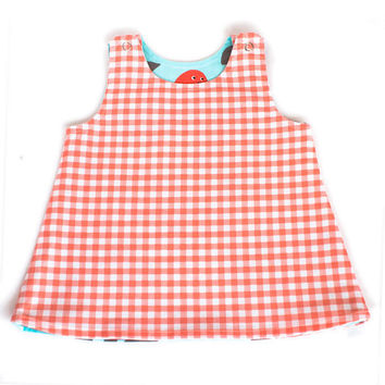 Turquoise Blue Reversible Baby Dress