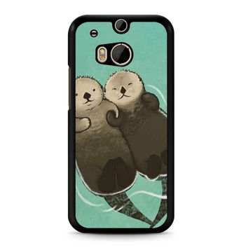 Significant Otters Otters Holding Hands HTC M8 Case