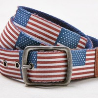 AEO Men's Patterned Belt (Navy)