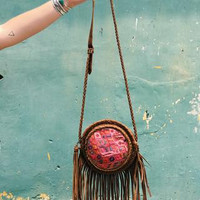 Stela 9 | Zacapa Fringe Canteen | Brown with Nahuala Huipil