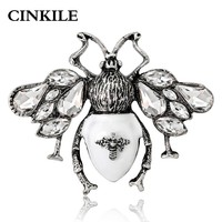 CINKILE 2018 Hot Sale Vintage Bee Brooches for Women Enamel Pin Fashion Jewelry Suit T-shirt Accessories Good Gift High Quality