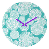 Heather Dutton Delightful Doilies Tiffany Round Clock
