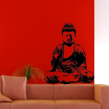 Buddha Version 1 Buddhist Design Decal Sticker Wall Vinyl Decor Art
