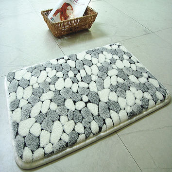 new bath mat rug pebbles natural coral fleece bathroom mat  carpet super absorbent bathroom rugs and mats banyo paspas 12 design