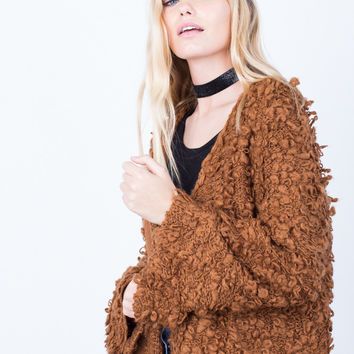 Shaggy Furry Cardigan