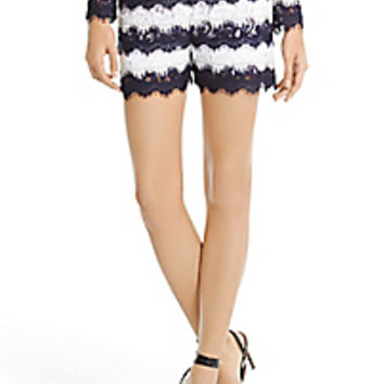 DVF Darren Striped Lace Short