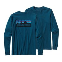 Patagonia Men's Long-Sleeved P6 Logo Cotton T-Shirt | Rusted Iron