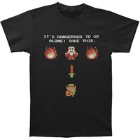 Zelda Men's  Be Prepared T-shirt Black Rockabilia