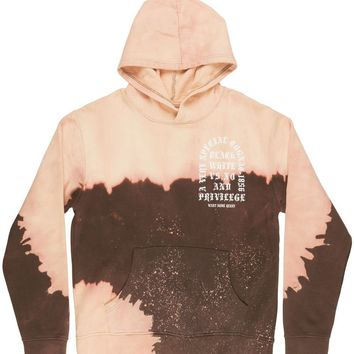 qiyif Black Keys Henny Cognac Pullover Hoodie Sweatshirt Sweater Fleece Brown Tie-Dye