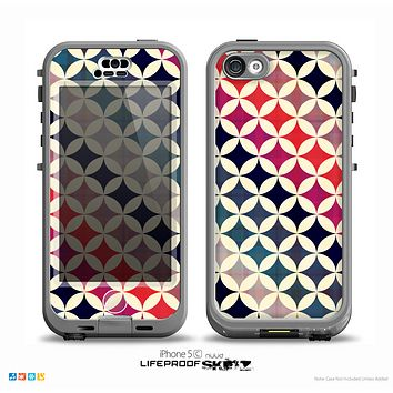 The Overlapping Retro Circles Skin for the iPhone 5c nüüd LifeProof Case