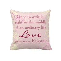 Vintage Love Quote Throw Pillow from Zazzle.com